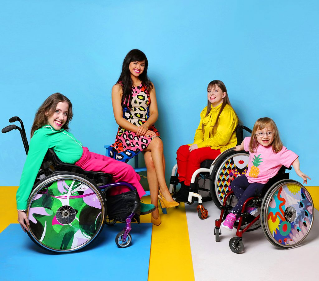 Izzy and Ailbhe with spokes people Jessie and Lucy. Photo by Sarah Doyle.