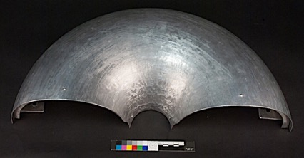 Semi-circular sculpture made from metal