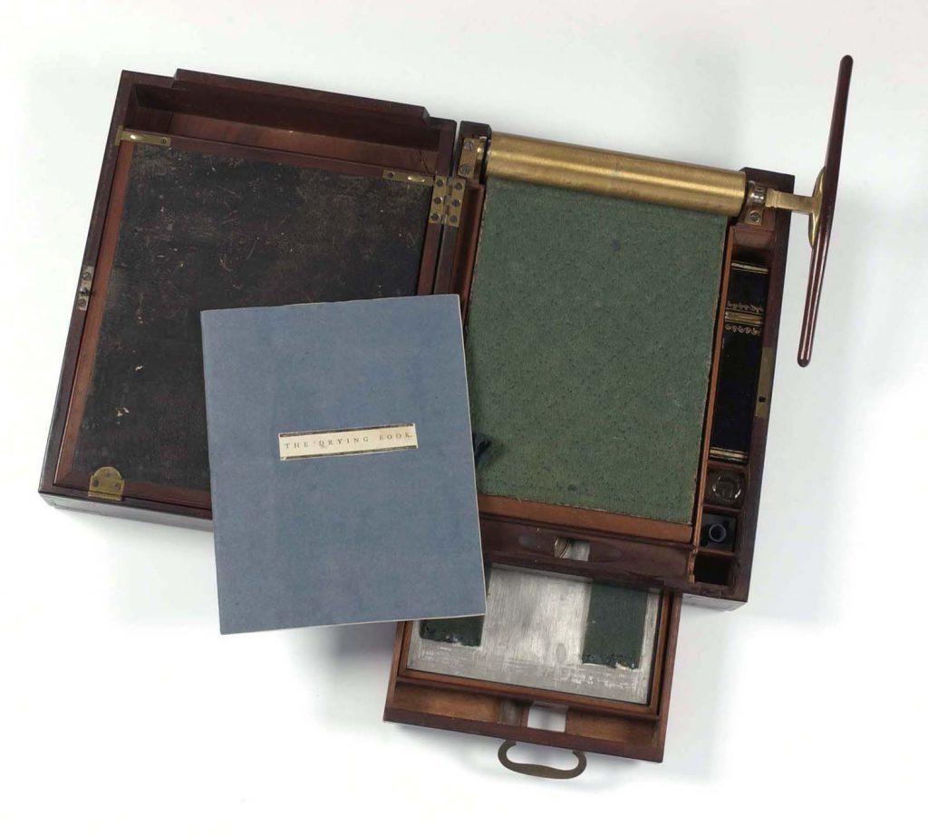 Portable letter-copy press.