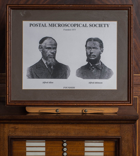 A photograph of the two founding members of the Society, Alfred Allen (left) and Alfred Atkinson (right).