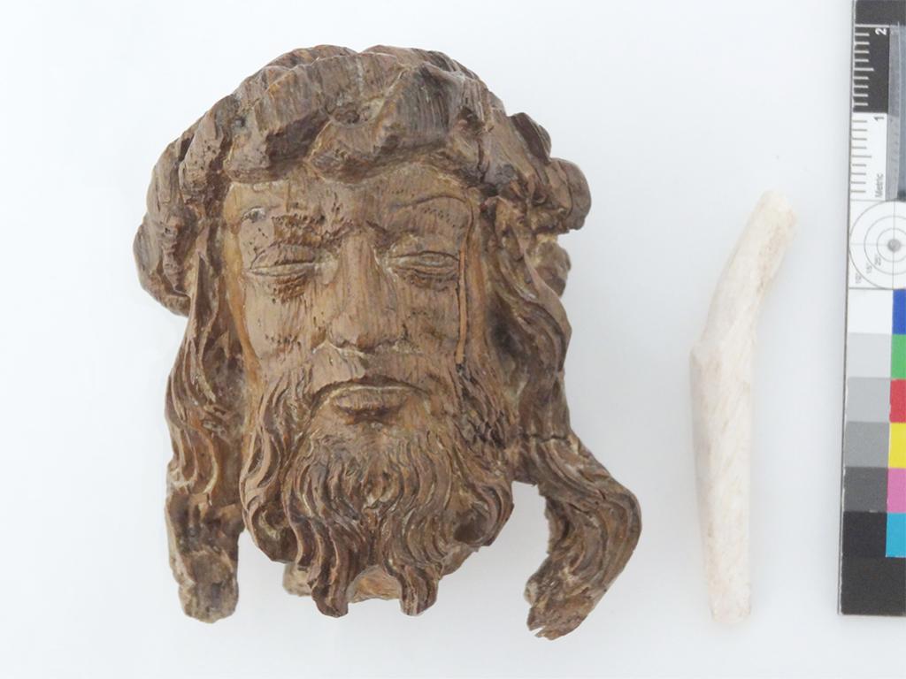 Man of Sorrows head and dowel