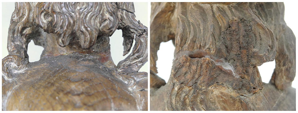 Man of Sorrows neck before/after