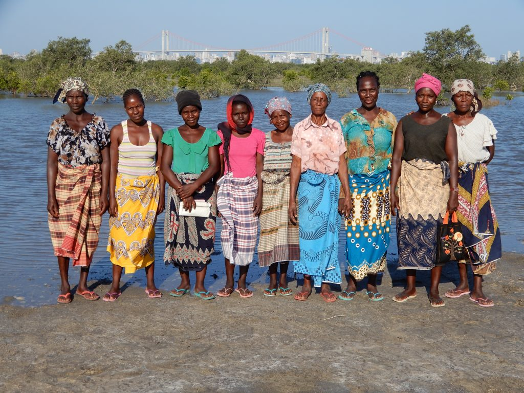 A line up of women in Mozambique.